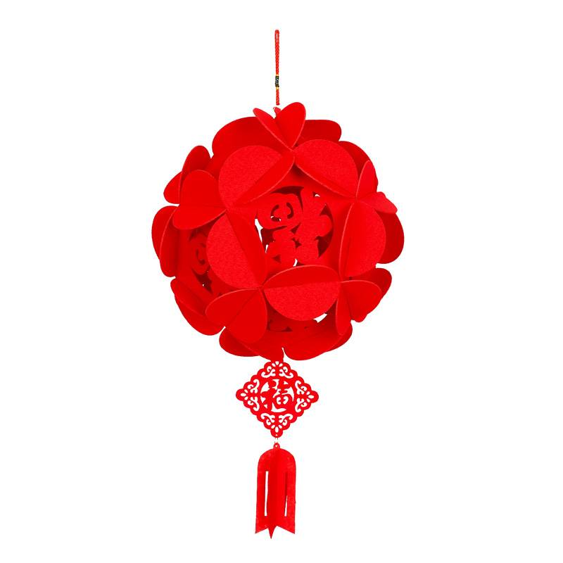 节日用品挂饰宫灯大红新年福字装饰小灯笼春字室内春节元旦节灯笼