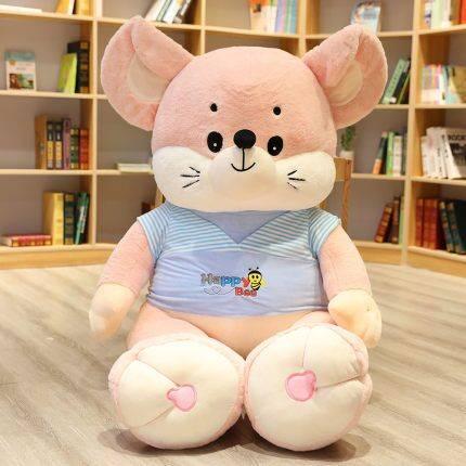 可爱老鼠公仔毛绒玩具超大鼠年吉祥物玩偶女生布娃娃睡觉抱枕床上