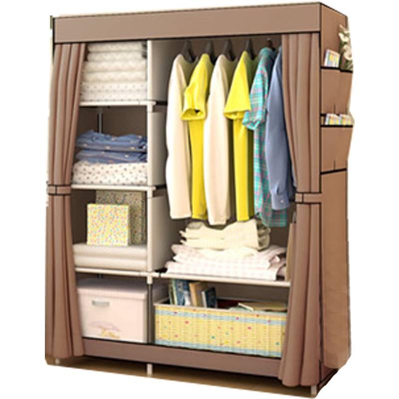 简易衣柜布艺全钢架钢管加粗加固牛津布衣柜折叠组装衣橱韩式现代