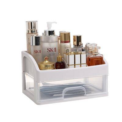 网红化妆品收纳盒北欧风格防尘有盖大容量置物架家用桌面化妆盒