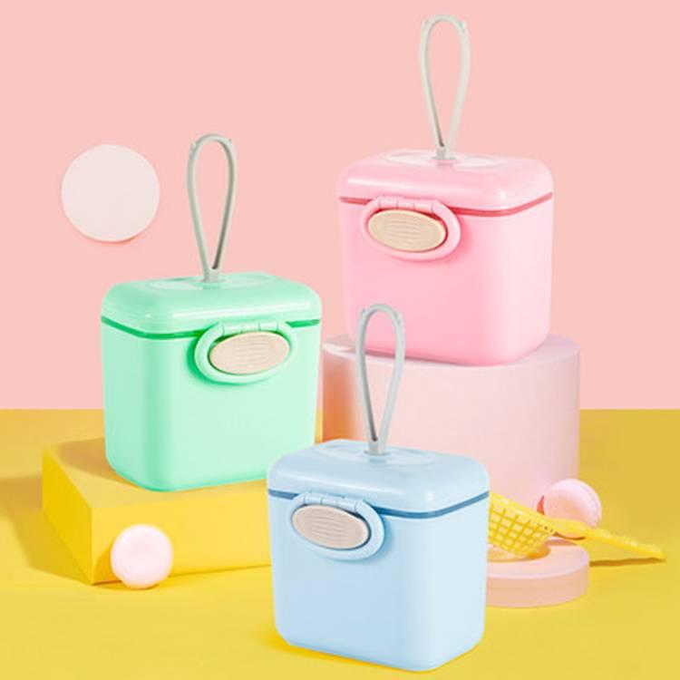婴儿奶粉盒便携外出米粉迷你小号密封多层分隔宝宝辅食大容量带勺