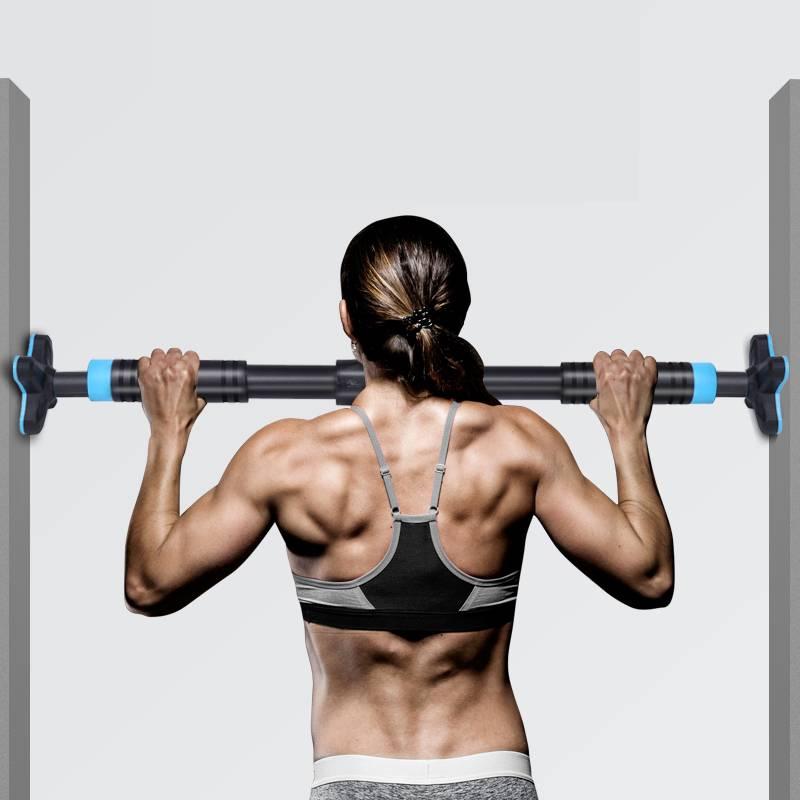 懒人单杠器材室内健身简易家庭门上门框引体向上单杆免打孔家用