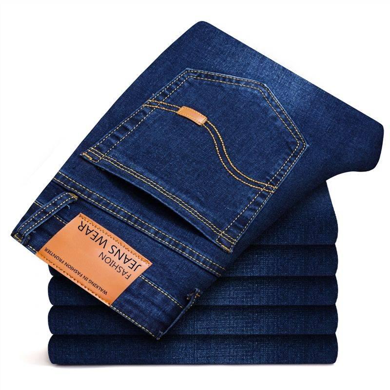 【羽艺轩】牛仔裤男士弹力修身直筒男装牛仔长裤新款大码商务休闲