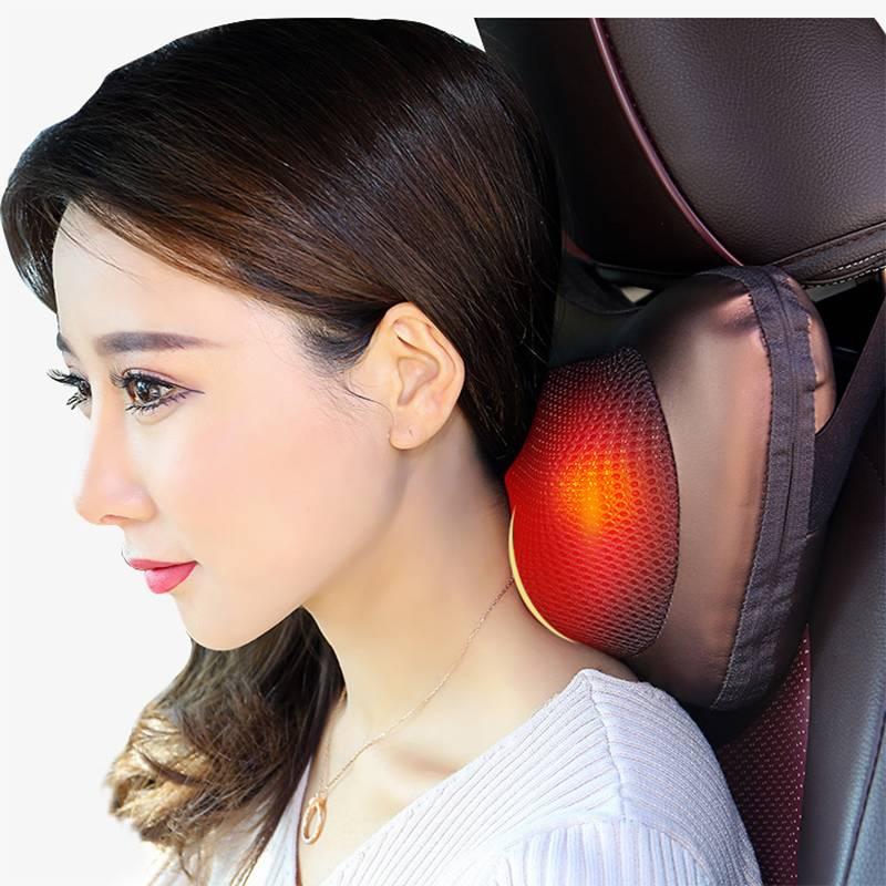 美姿宝颈椎按摩器颈部腰部肩部肩颈电动仪枕头多功能脖子家用神器