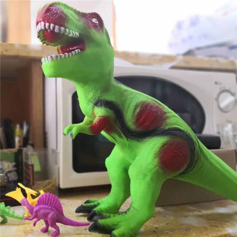 仿真软胶超大号恐龙玩具霸王三角龙动物模型塑胶儿童宝宝3岁6男孩