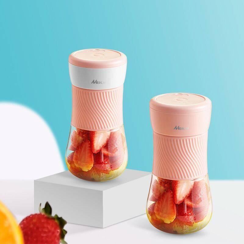 美彩家用榨汁机便携式水果充电迷你小型网红学生电动炸果汁机