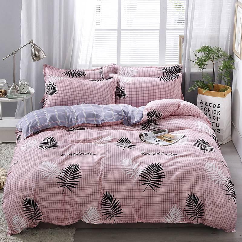 网红款ins风四件套磨毛被套床单床上用品加厚家纺四件套