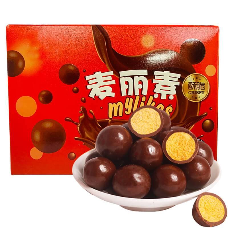 澳洲风味麦丽素麦提莎巧克力小吃网红休闲零食桶装(代可可脂)