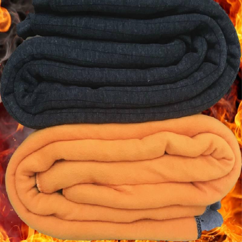 冬季19棉裤男中老年人加肥加大加绒加厚超厚高腰宽松保暖裤男驼绒