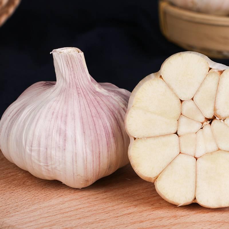 农家干大蒜头自种河南杞县特产2019年蒜头低价干蒜5斤新鲜紫白皮