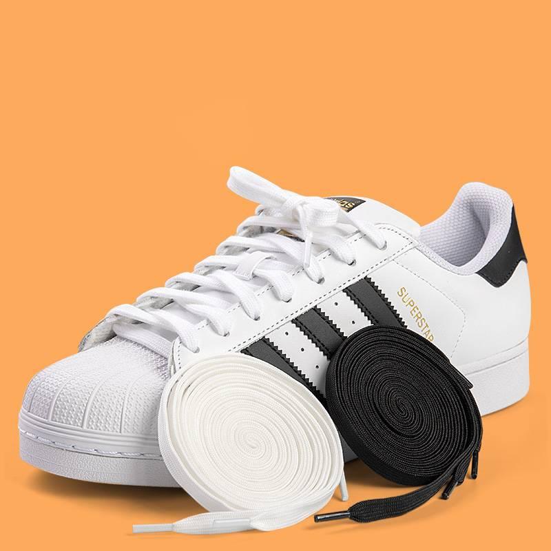 小白鞋鞋带扁平男女运动板鞋篮球鞋帆布鞋韩版百搭贝壳头白色黑色