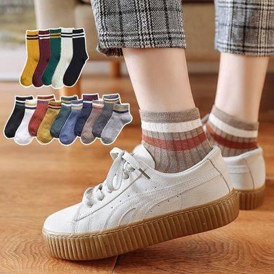 堆堆袜子女秋冬季短袜浅口船袜可爱加厚中长筒日系中筒棉袜ins潮