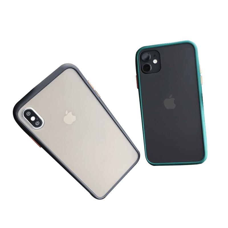 苹果11手机壳iPhone11promax个性创意8plus磨砂xs透明7p撞色边框6s全包防摔潮牌xsm简约ax男女xr网红超薄情侣