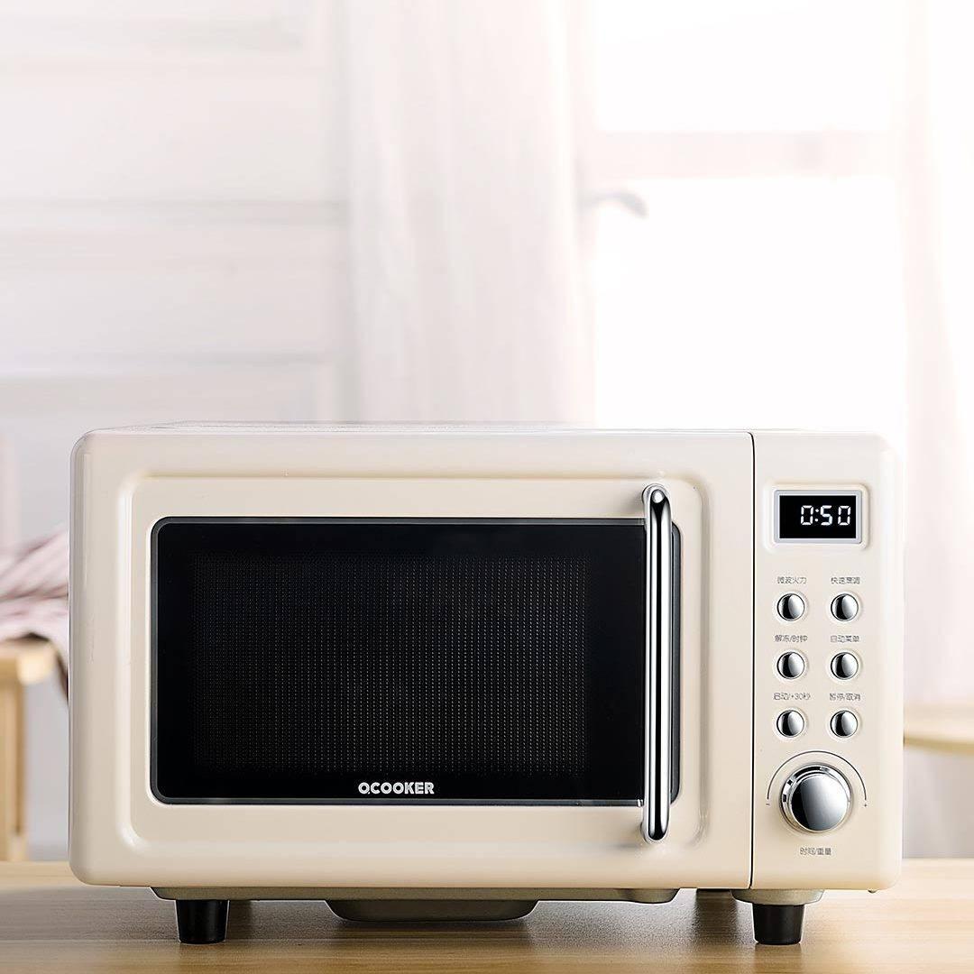 圈厨CR-WB01B微波炉家用正品多功能小米迷你转盘式复古机械20L