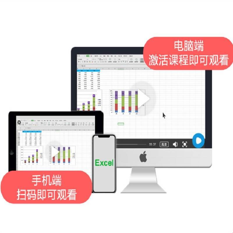 【赠excel书籍】excel课程数据处理与分析excel视频教程office办公软件教程零基础VBA表格函数图表数据透