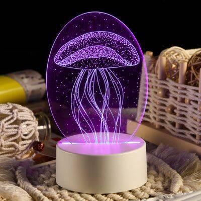 创意3D小夜灯插电同学闺蜜