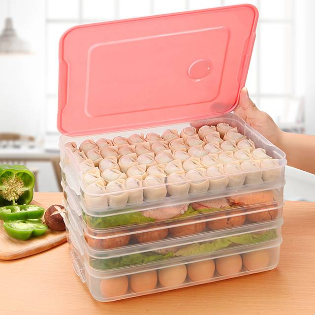 饺子盒厨房家用水饺盒冰箱保鲜盒收纳盒塑料冷冻托盘馄饨盒鸡蛋盒