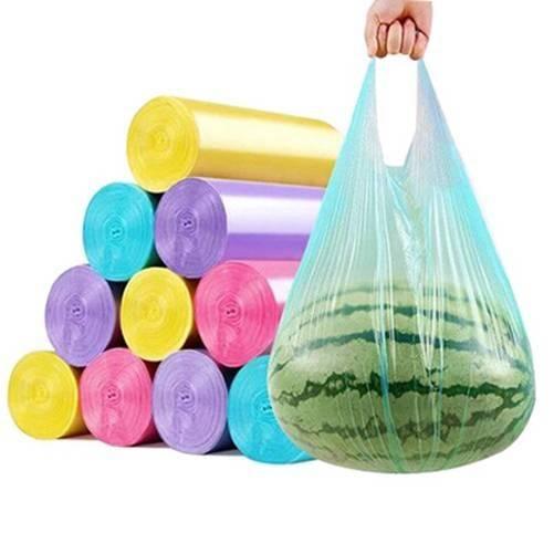 20-600只垃圾袋家用手提点断式加厚黑色彩色一次性背心大号塑料袋