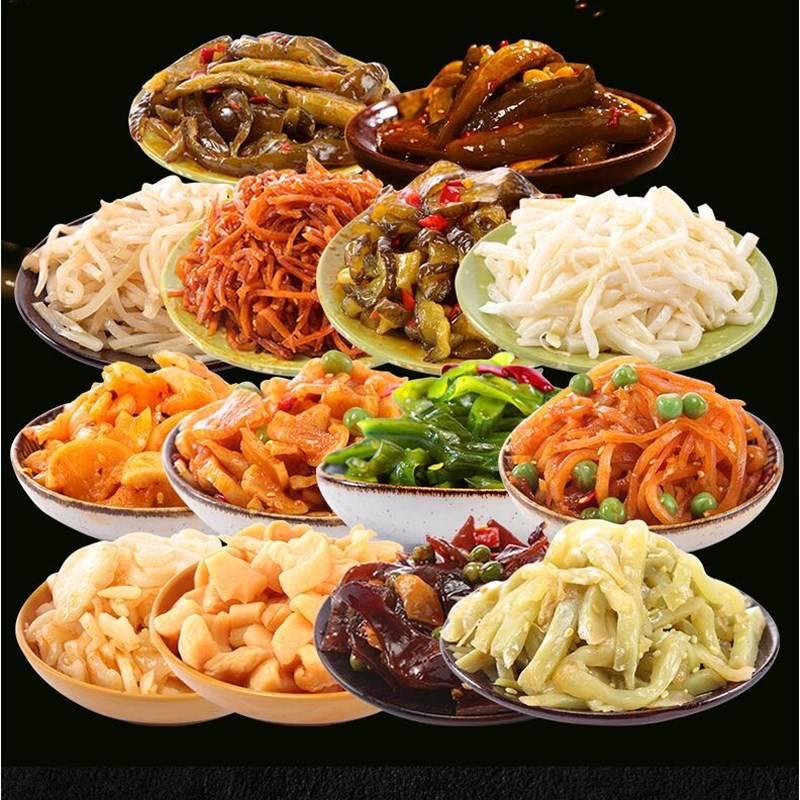 汇龙酱菜小包装即食咸菜裙带菜海白菜芥菜丝萝卜下饭菜开胃菜400g