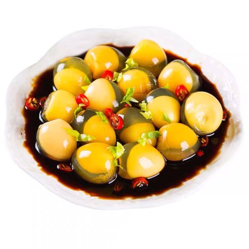 五香鹌鹑变蛋手工小皮蛋松花蛋无铅河南特产80枚