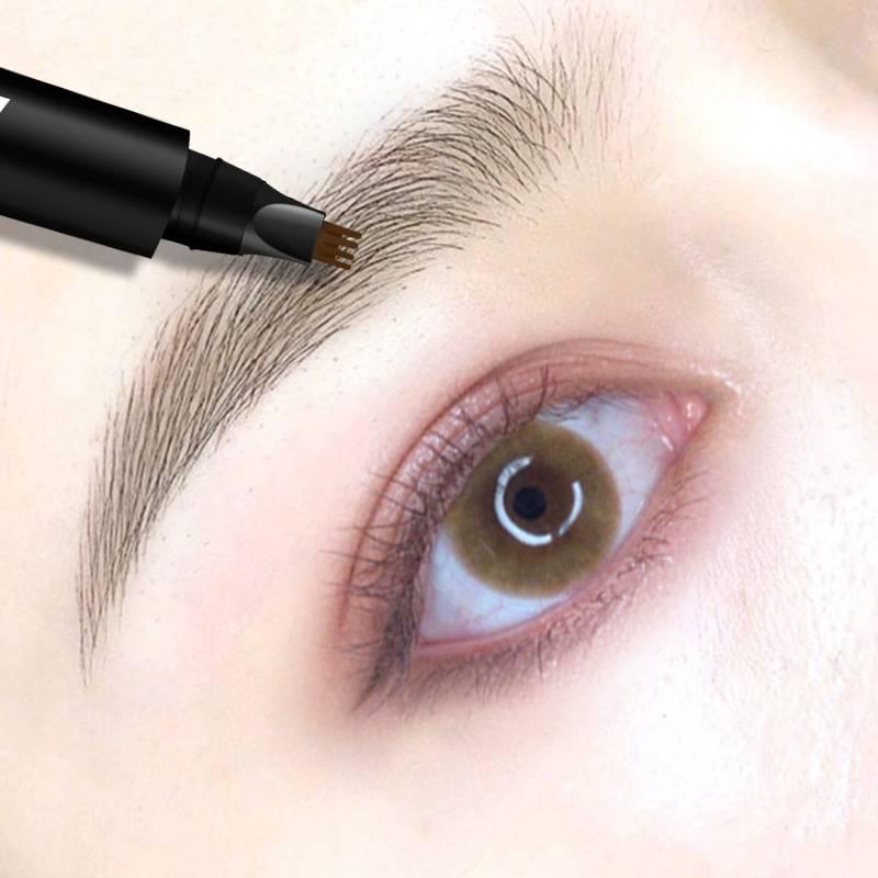 四叉液体眉笔正品超细头极细不脱色持久防水女