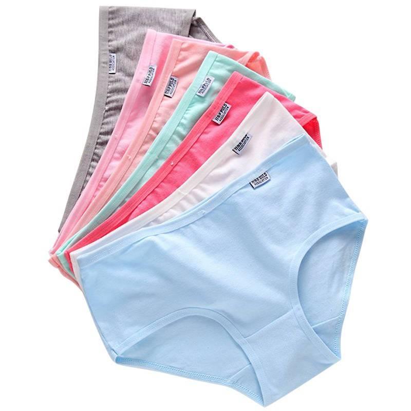 5-10条纯棉内裤女中腰100%纯棉裆女士内裤少女学生日系性感大码