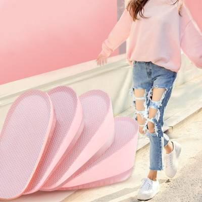 內增高鞋墊女網紅增高鞋墊不累腳隱型硅膠真高半墊矮個子增高神器