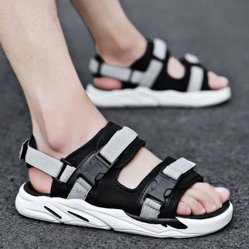 学生凉鞋男2020夏季新款韩版潮流个性休闲两穿沙滩鞋透气单鞋潮鞋