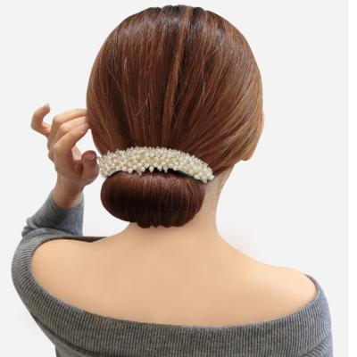 扎半丸子头神器女蓬松简约百搭懒人发夹韩式花苞头水晶盘发器头饰