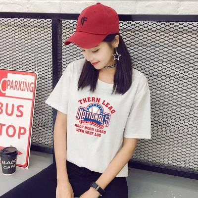短袖T恤女白色2020年夏季网红新款韩版宽松大码胖mm百搭休闲上衣