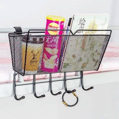 宿舍神器大学生寝室上铺用品床头置物架床上床边挂篮上铺收纳必备