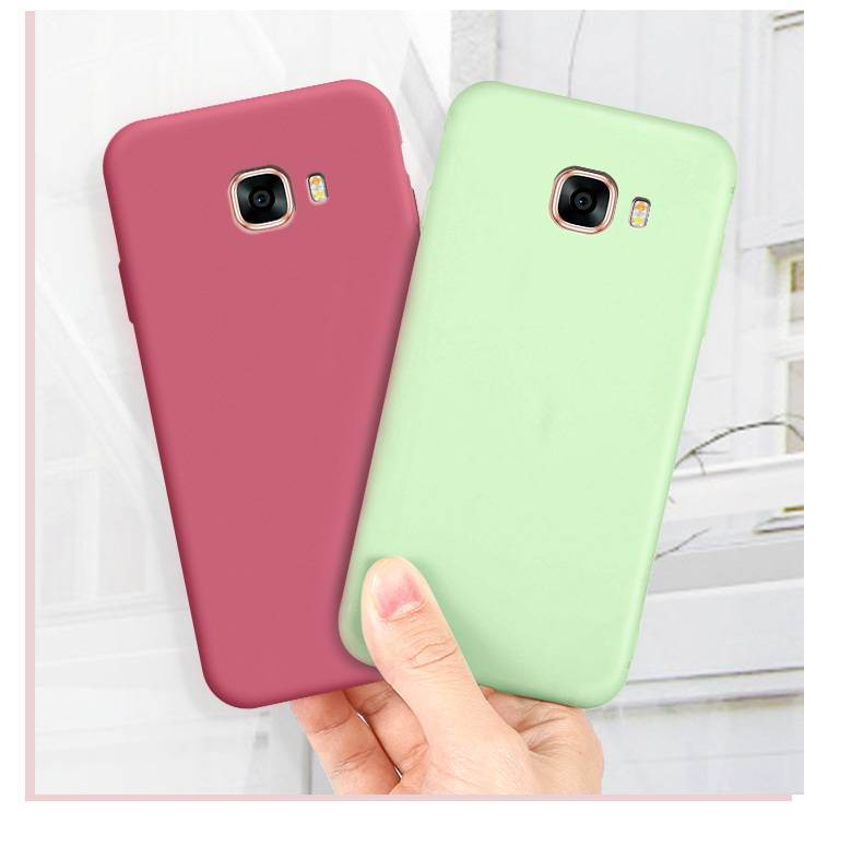 三星c7纯色手机壳Galaxy sm-c7000液态硅胶软外壳smc7008男女简约