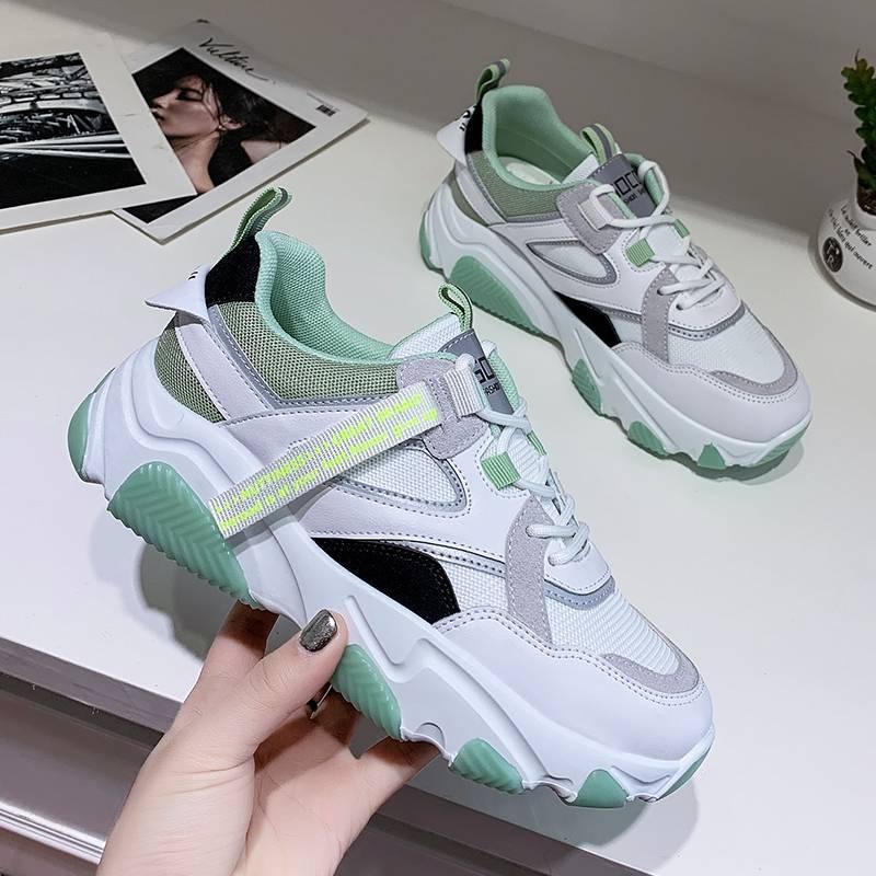 韩版老爹鞋女2020春季新款ins运动鞋女百搭学生跑步板鞋网红女鞋