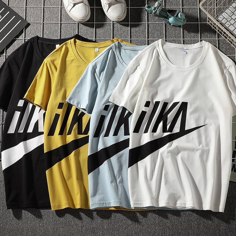 太平公鸡韩版男士t恤夏季男装体恤上衣2020新潮流复古外套打底衫