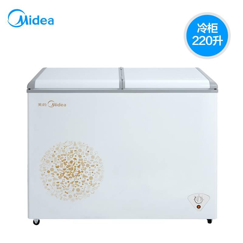 Midea/美的 BD/BC-203KM全冷冻冰柜 小型卧式商用冷柜家用冰箱