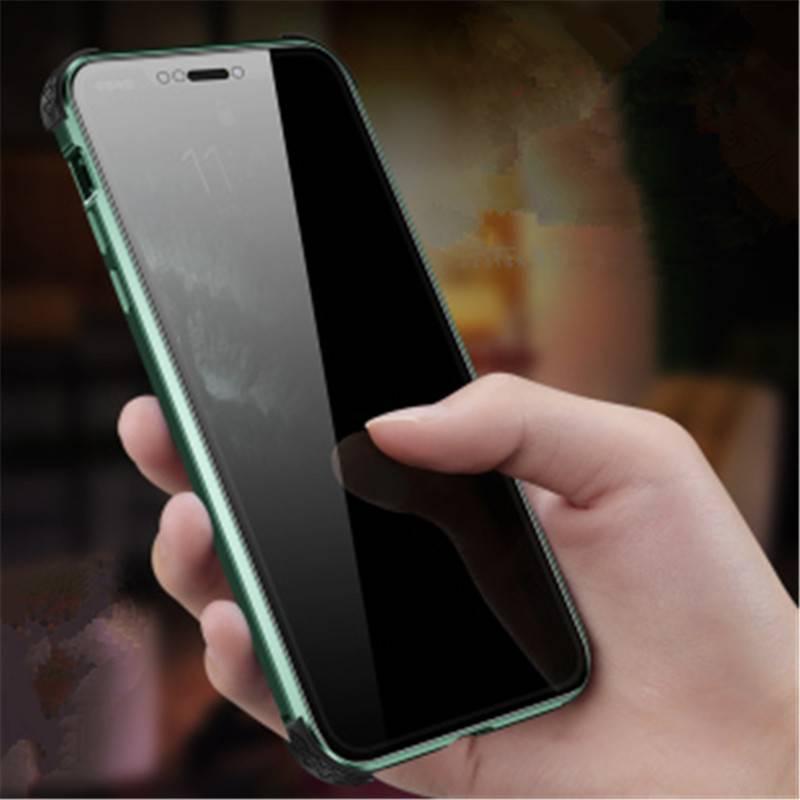 防偷窥双面玻璃苹果x手机壳女透明iphonexs保护套max全包气囊防摔xr外壳创意潮摄像头全包网红潮款男抖音同款