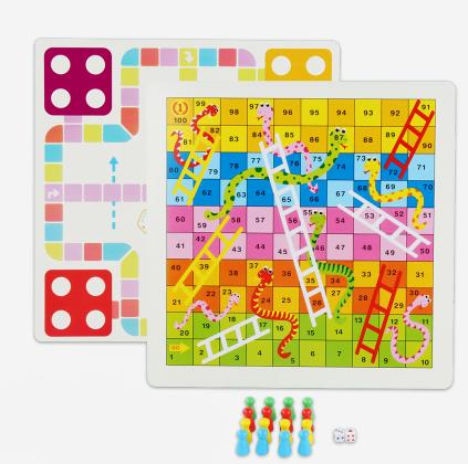 儿童五子棋飞行棋跳棋多功能桌面游戏棋益智玩具木制象棋军旗玩具