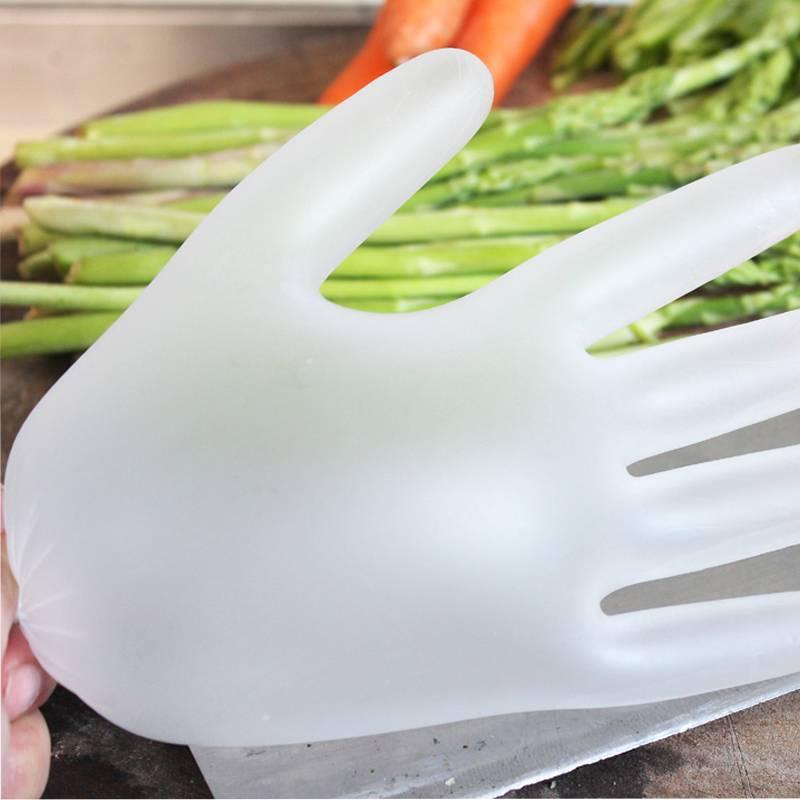 100只一次性手套耐磨加厚防水pvc美容食品餐饮医生用隔离防护盒装