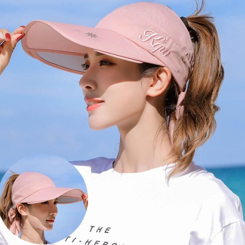 遮阳帽女防晒紫外线夏季空顶时尚韩版潮百搭遮脸太阳帽大帽檐帽子