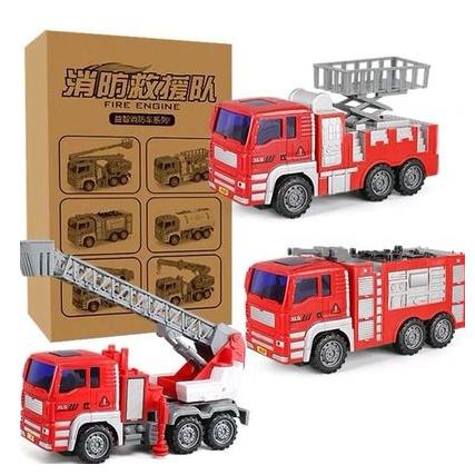 大号儿童消防车玩具套装惯性车环卫垃圾车工程车男孩汽车玩具模型