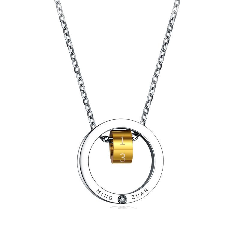 梁凯恩 钻石项链 女款套链 玫瑰金色小蛮腰钻石吊坠 送女友礼物