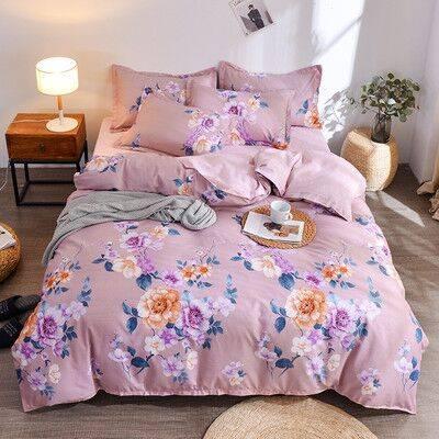 【现货秒发】网红款加厚磨毛四件套床单被套被单双人多件套1.5米2