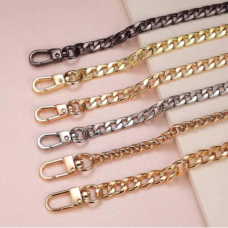 女士斜挎肩带包包链条配件单买包链金属银色金色黑色链子替换包带