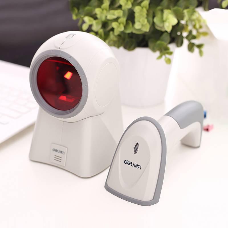 得力无线红光扫描枪手机屏幕支付宝微信动态收款扫码枪一二维条形