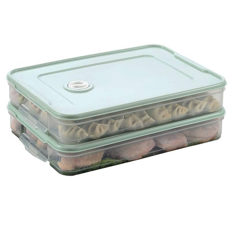 饺子盒冻饺子多层家用冰箱收纳盒子速冻水饺盒保鲜盒饺盒多层盖帘
