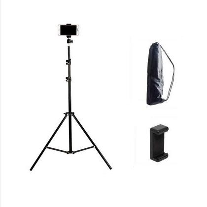 手机支架直播多功能三脚架桌面床头快手拍照补光灯设备通用自拍杆