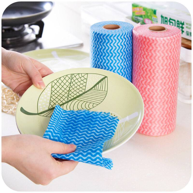 懒人抹布可水洗不沾油厨房无纺布巾干湿两用加厚一次性洗碗布