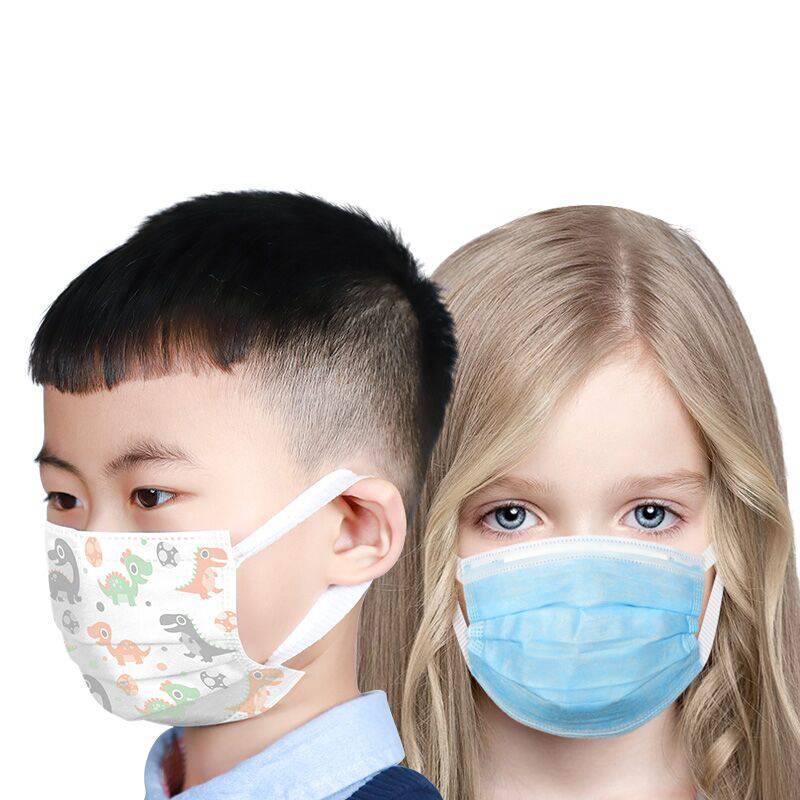 亲格儿童口罩一次性口罩三层防护含熔喷布青少年学生口罩透气50片