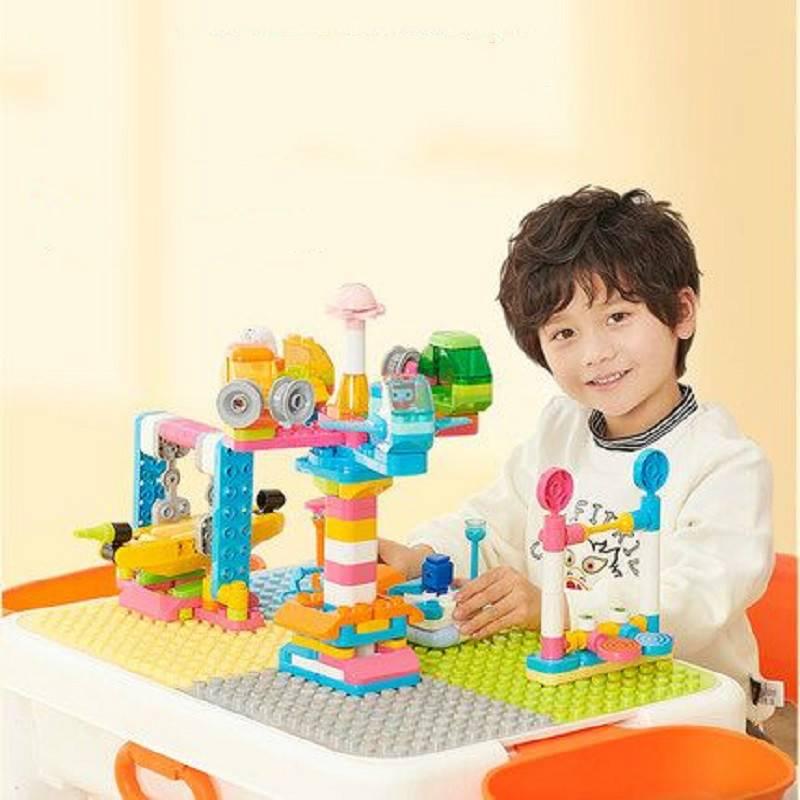 布鲁可大颗粒滑轨乐园宝宝积木桌布鲁克儿童益智拼装玩具男孩女孩