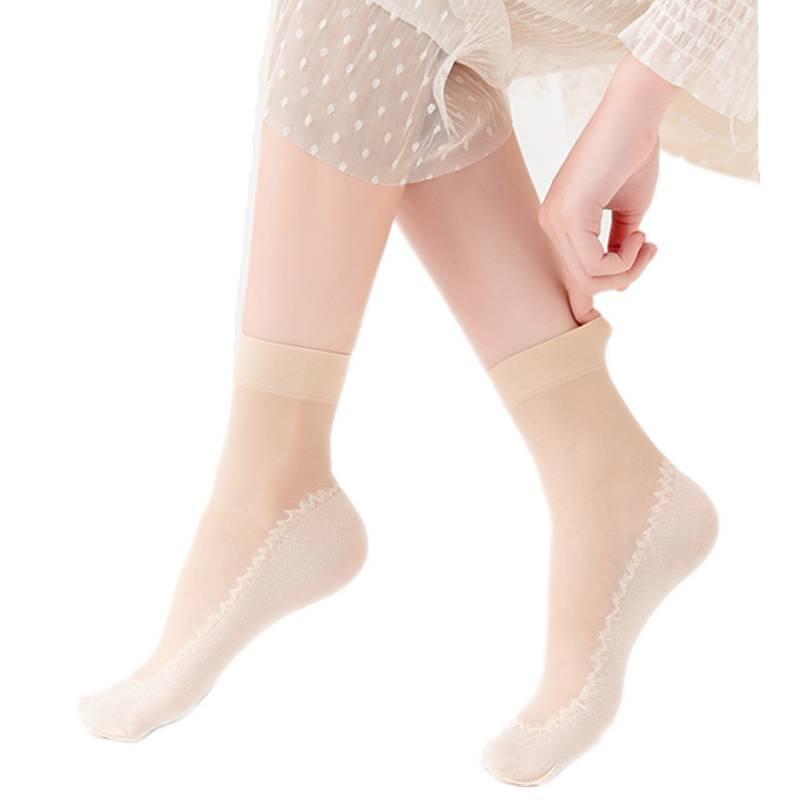 短丝袜女薄款夏季防勾丝耐磨水晶袜女士天鹅绒钢丝袜透明隐形袜子